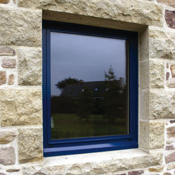 Fenêtre alu bleu