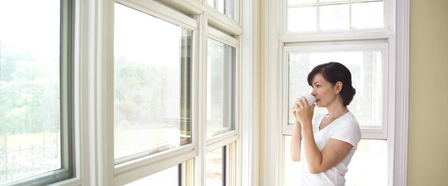 Fenêtre double vitrage thermique en PVC