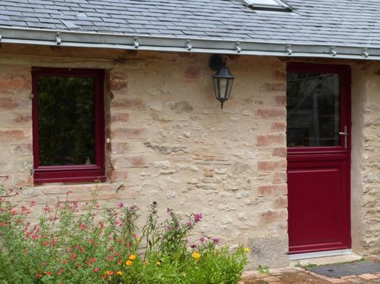 Fenêtre et porte-fenêtre alu rouge RAL 3004