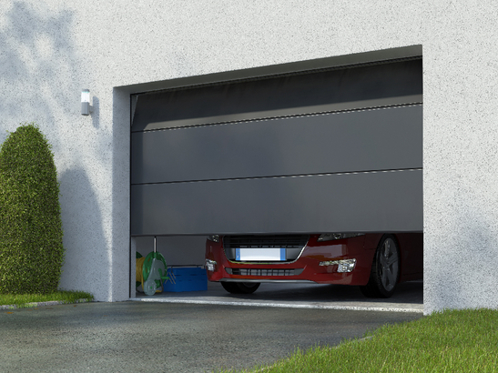 Porte de garage sectionnelle gris anthracite ral 7016 for Porte de garage electrique prix