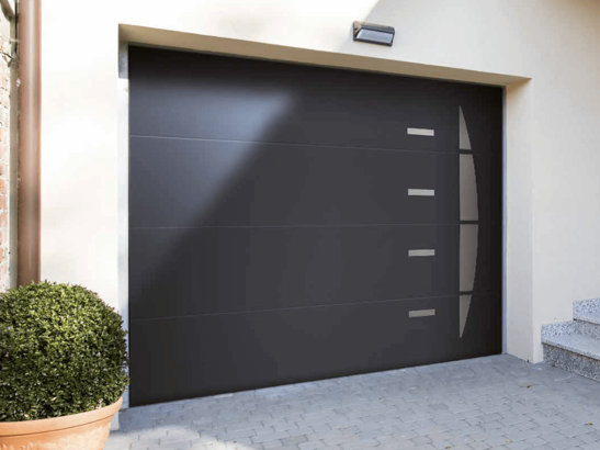 Porte de garage gris anthracite - Porte de garage sectionnelle gris anthracite ...